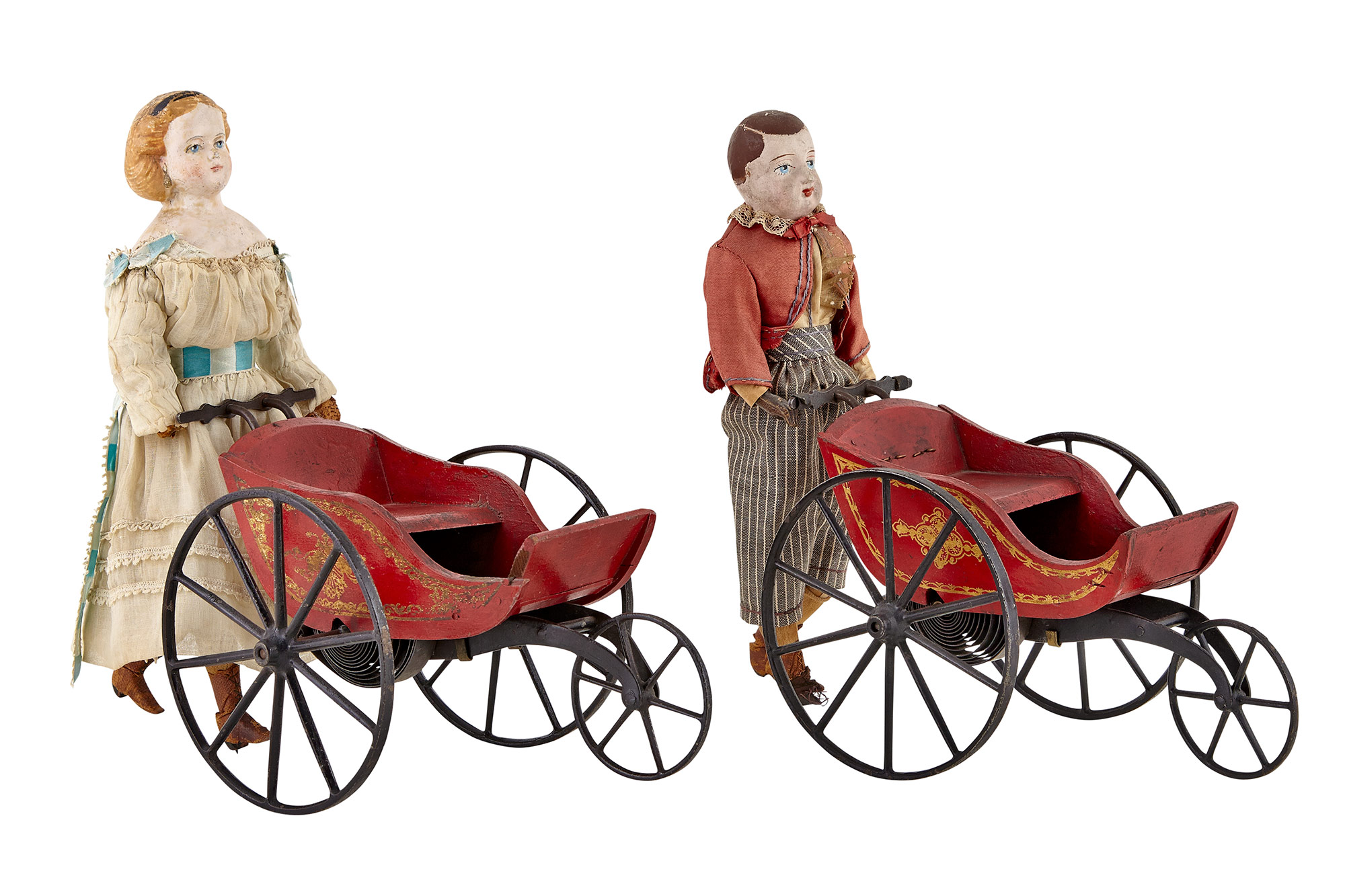 Lot image - Two Figures with Carriage