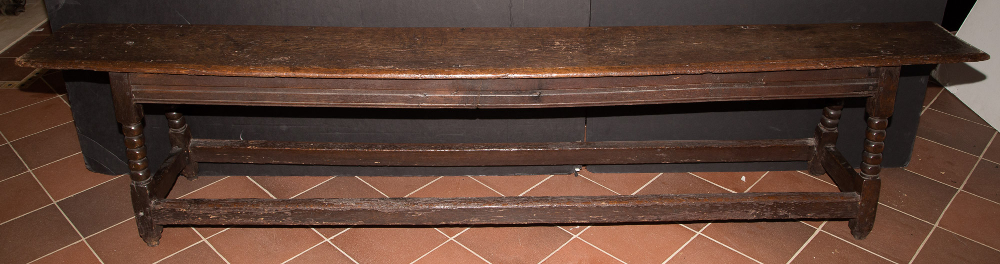 Lot image - English Joined Oak Long Bench