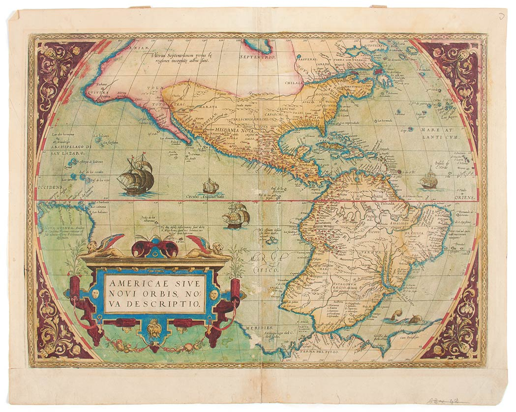 Lot image - [MAPS]  Group of three maps by Abraham Ortelius
