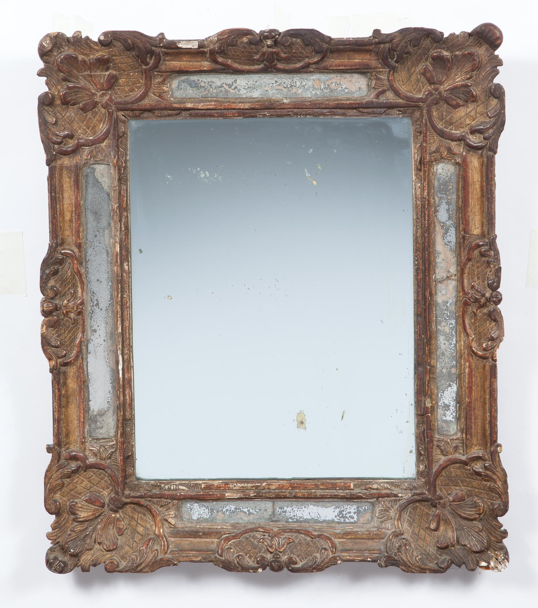 Lot image - Louis XV Carved Giltwood Border Glass Mirror
