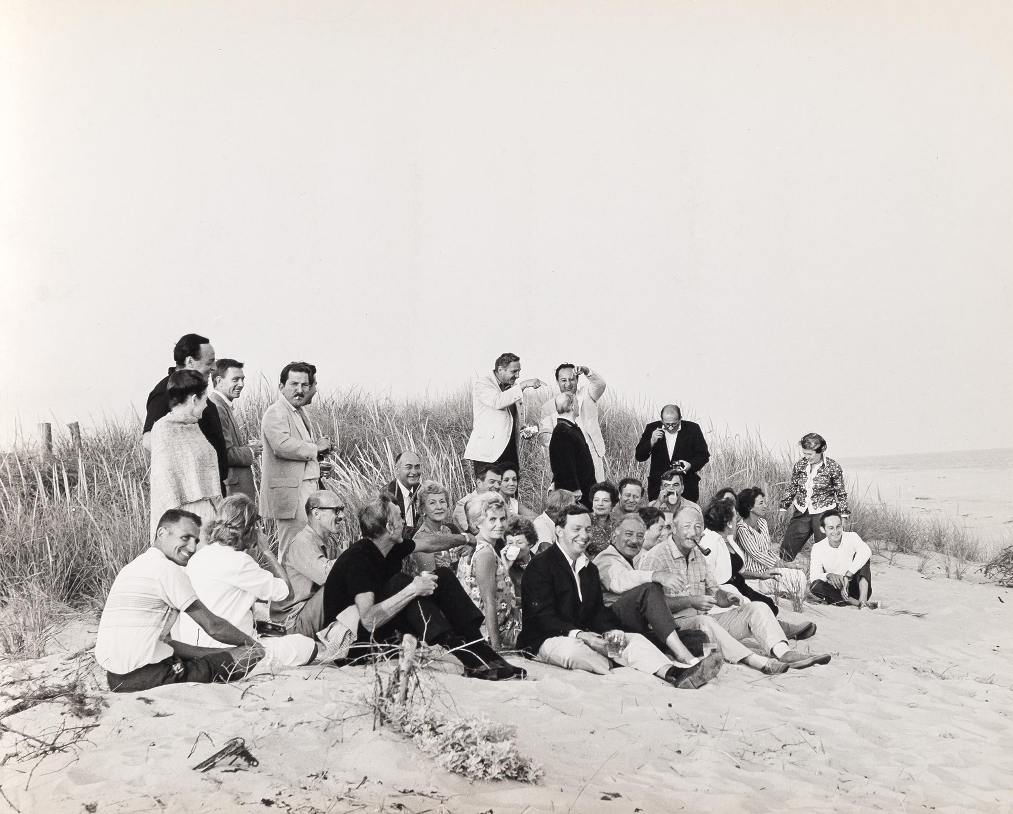 Lot image - NAMUTH, HANS  Spring, East Hampton, L.I. [East Hampton, L.I. abstract artists/painters on the beach],