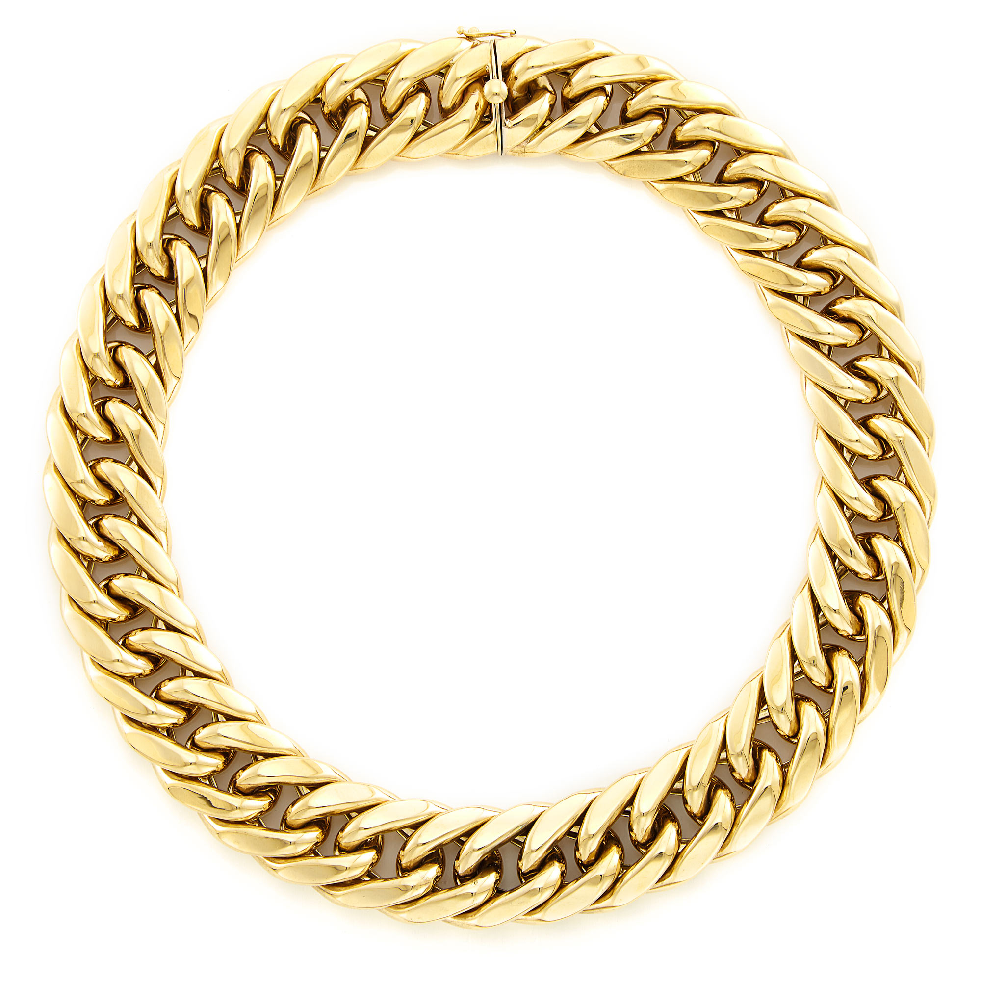Lot image - Gold Link Necklace