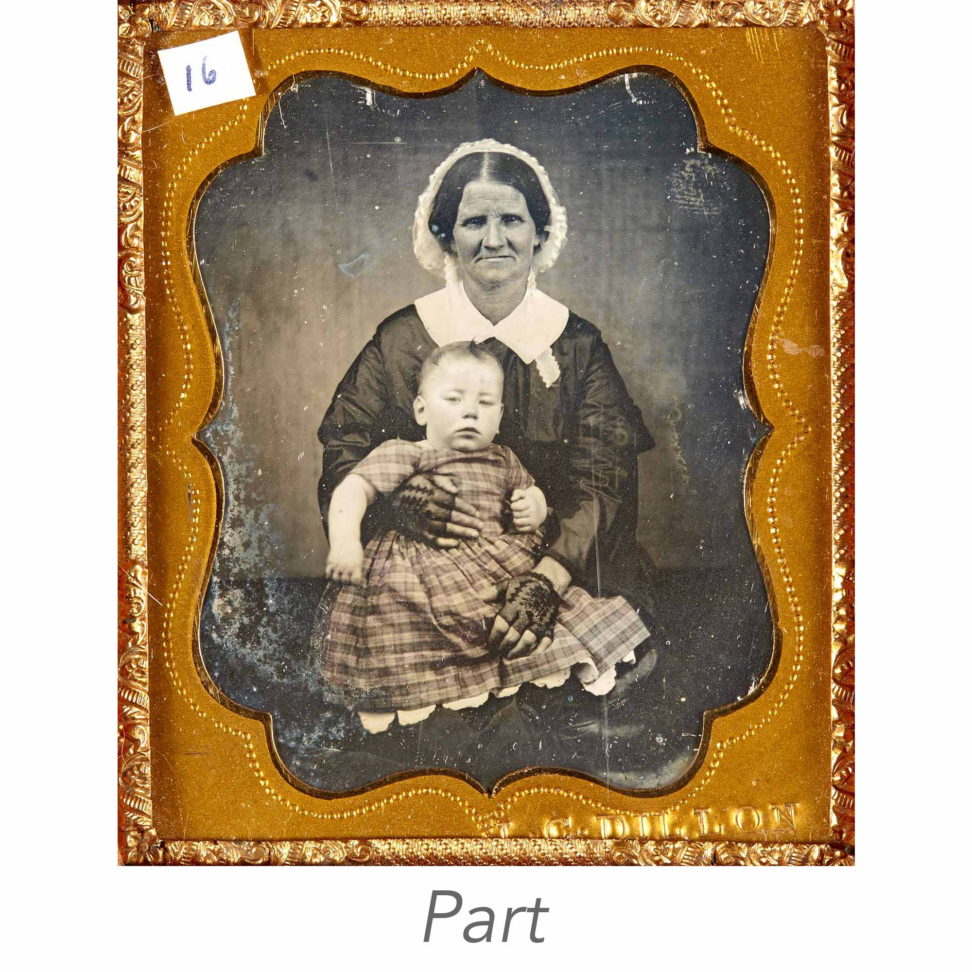Lot image - [DAGUERREOTYPE-PORTRAIT]  Two sixth-plate portrait daguerreotypes, both signed.