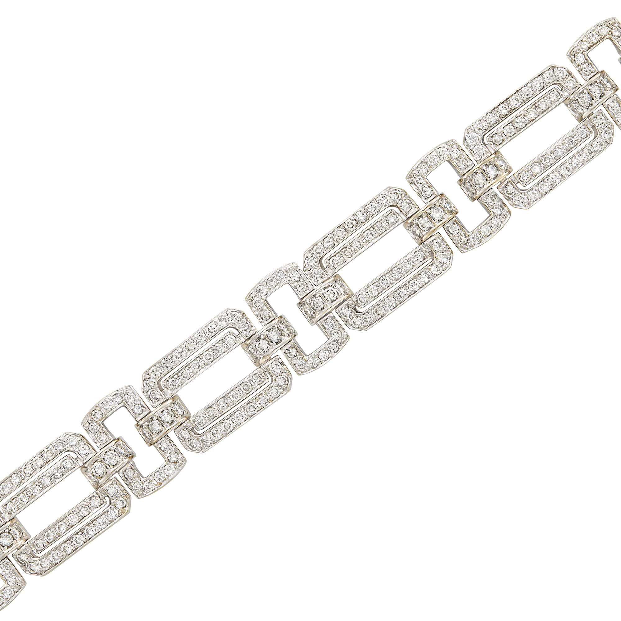Lot image - White Gold and Diamond Link Bracelet