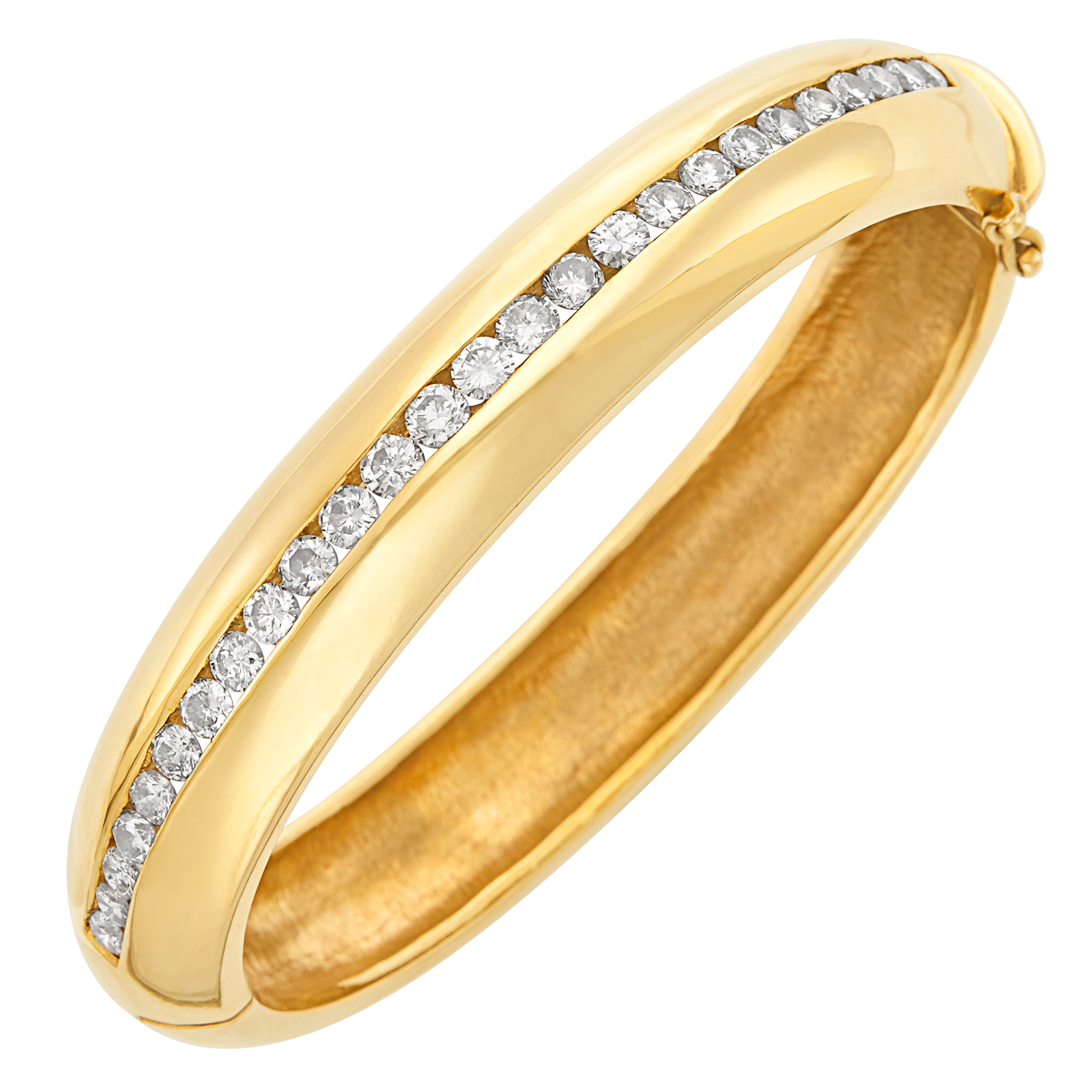 Lot image - Gold and Diamond Bangle Bracelet