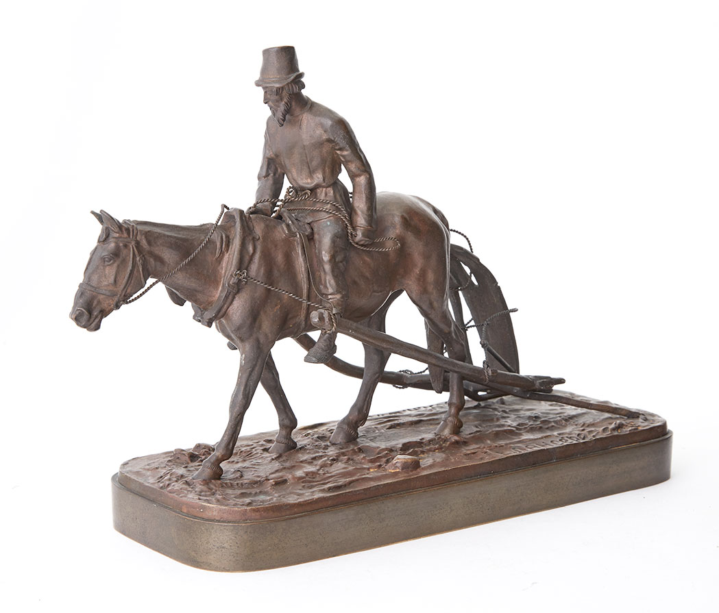 Russian Bronze Group Of Return From The Fields Doyle
