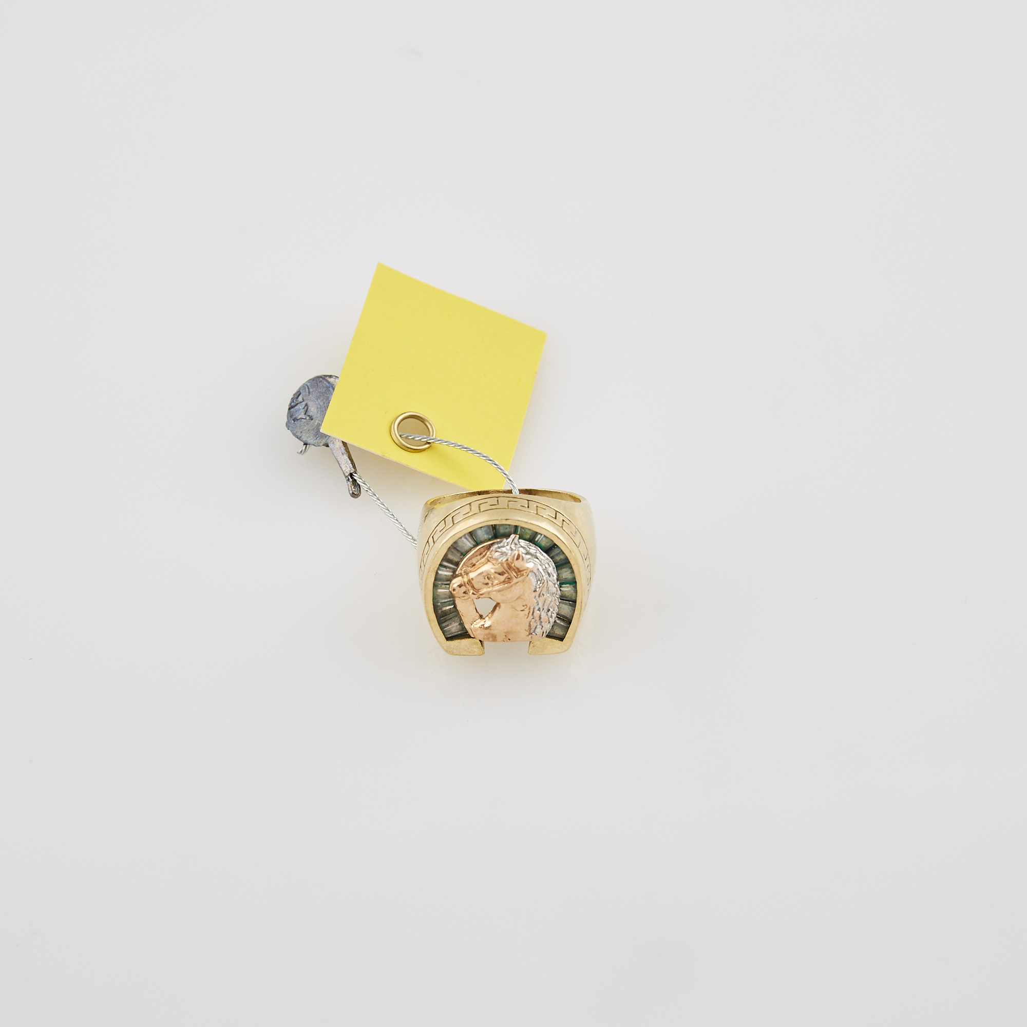 Lot image - Gold and Stone Ring, 14K 9 dwt. all