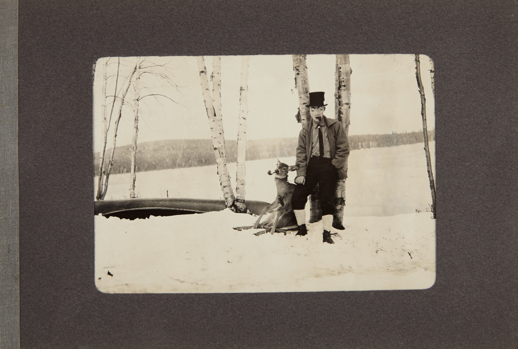 Lot image - [PHOTOGRAPHY]  Our visit to Betula Lodge, Camp of Henry A. Bishop, Carr Pond, Portage, Maine, November 1912.