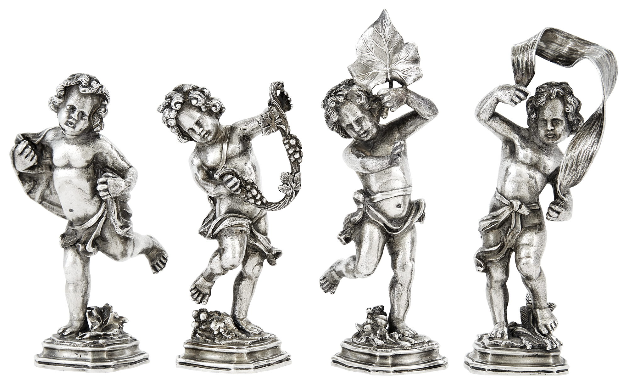 Lot image - Set of Four Buccellati Sterling Silver Figures of the Four Seasons