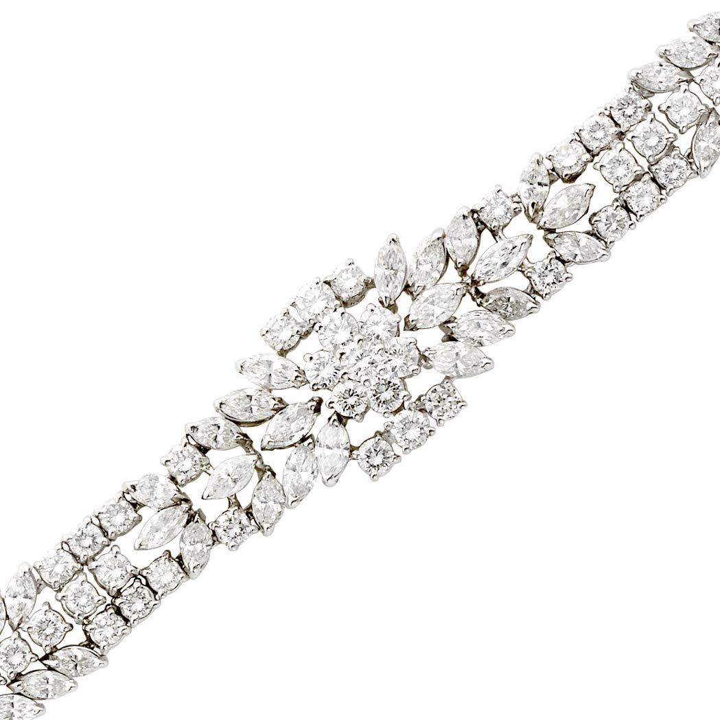 Lot image - White Gold and Diamond Bracelet