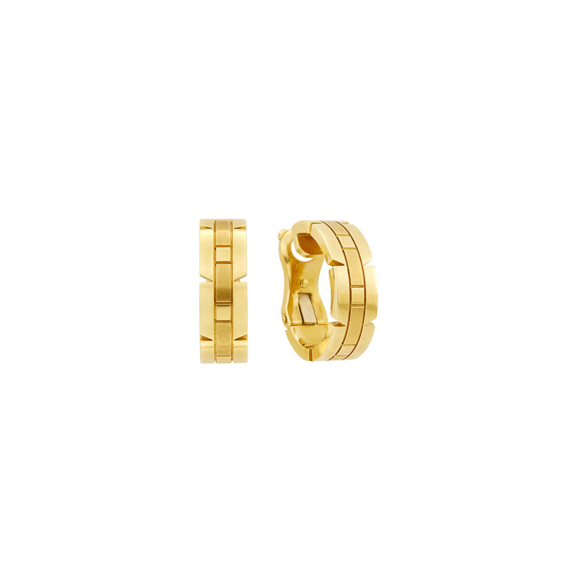 Lot image - Cartier Pair of Gold Panthère Earclips