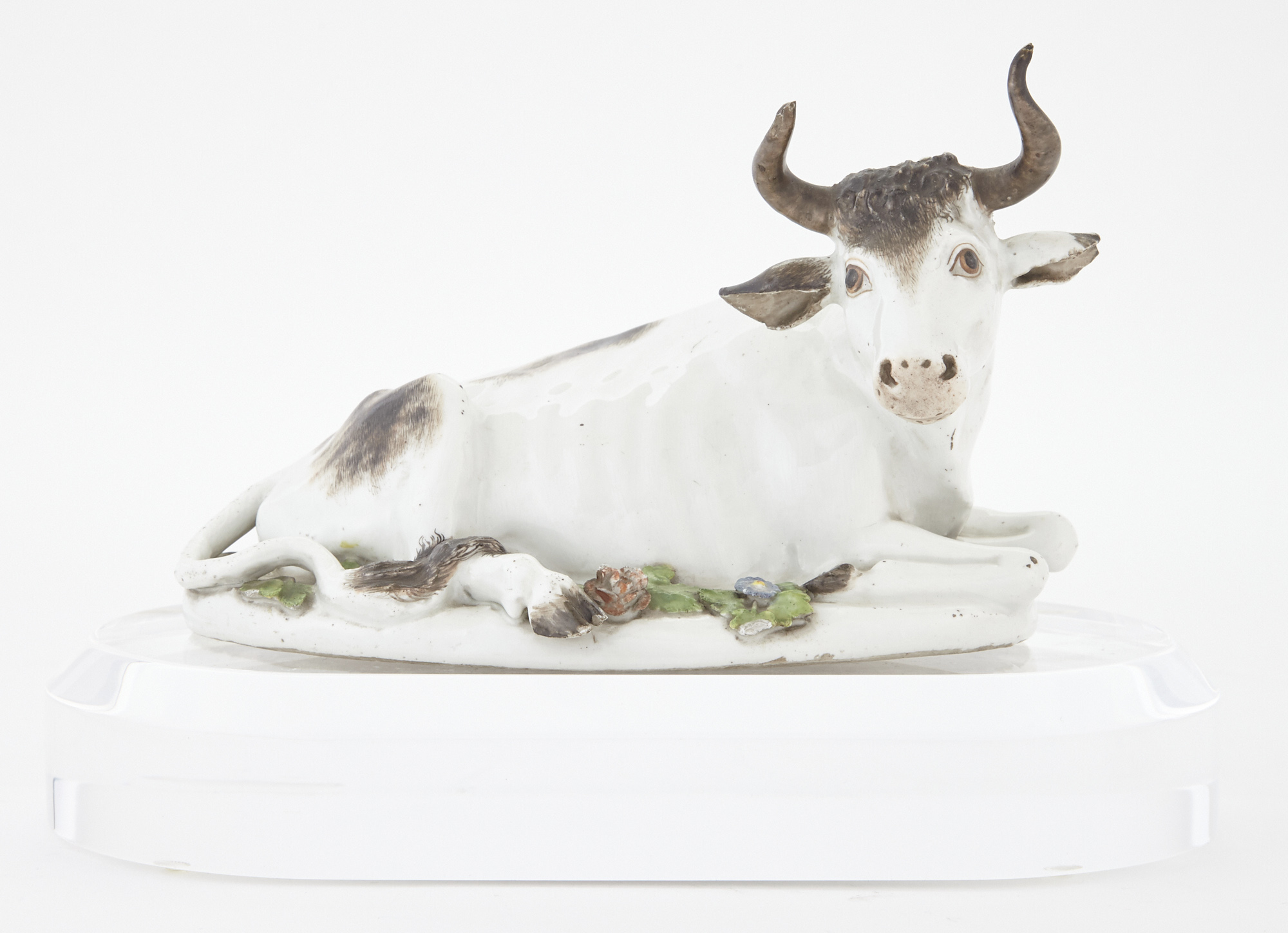 Lot image - Meissen Porcelain Figure of a Recumbent Bull