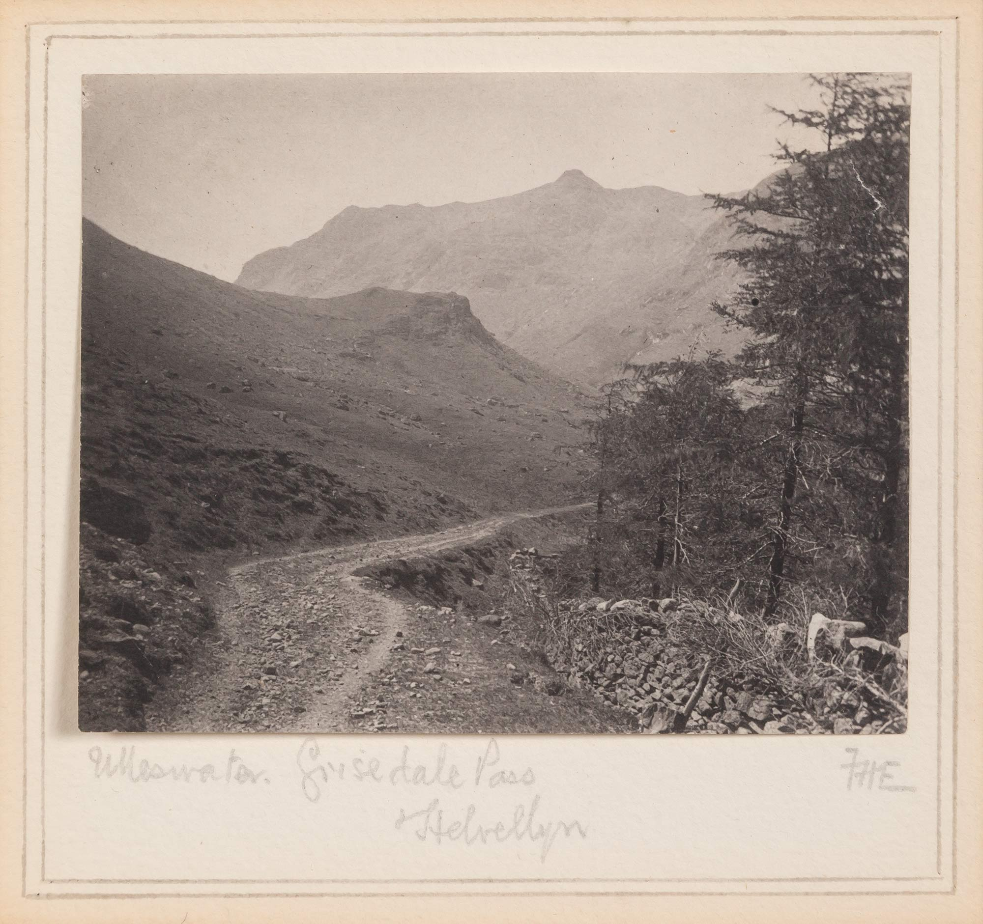 Lot image - EVANS, FREDERICK D. (1853-1943)  Ulleswater, Grisedale Pass, Helvellyn