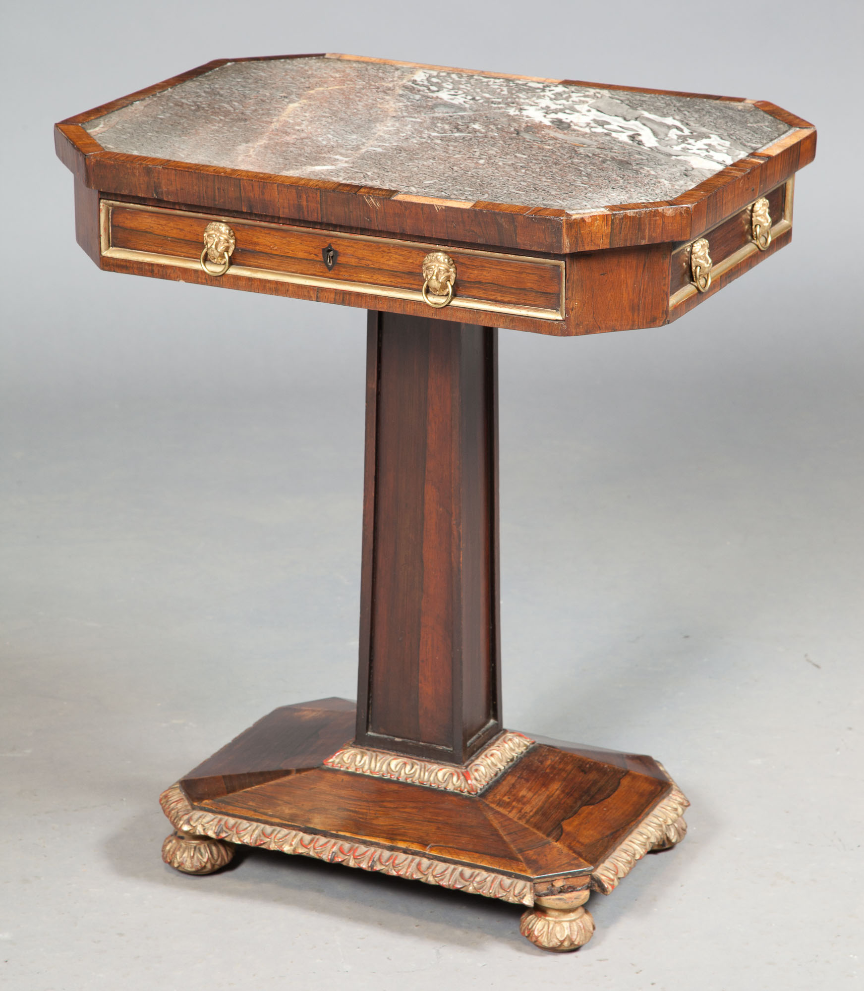 Lot image - George IV Rosewood and Parcel-Gilt Table