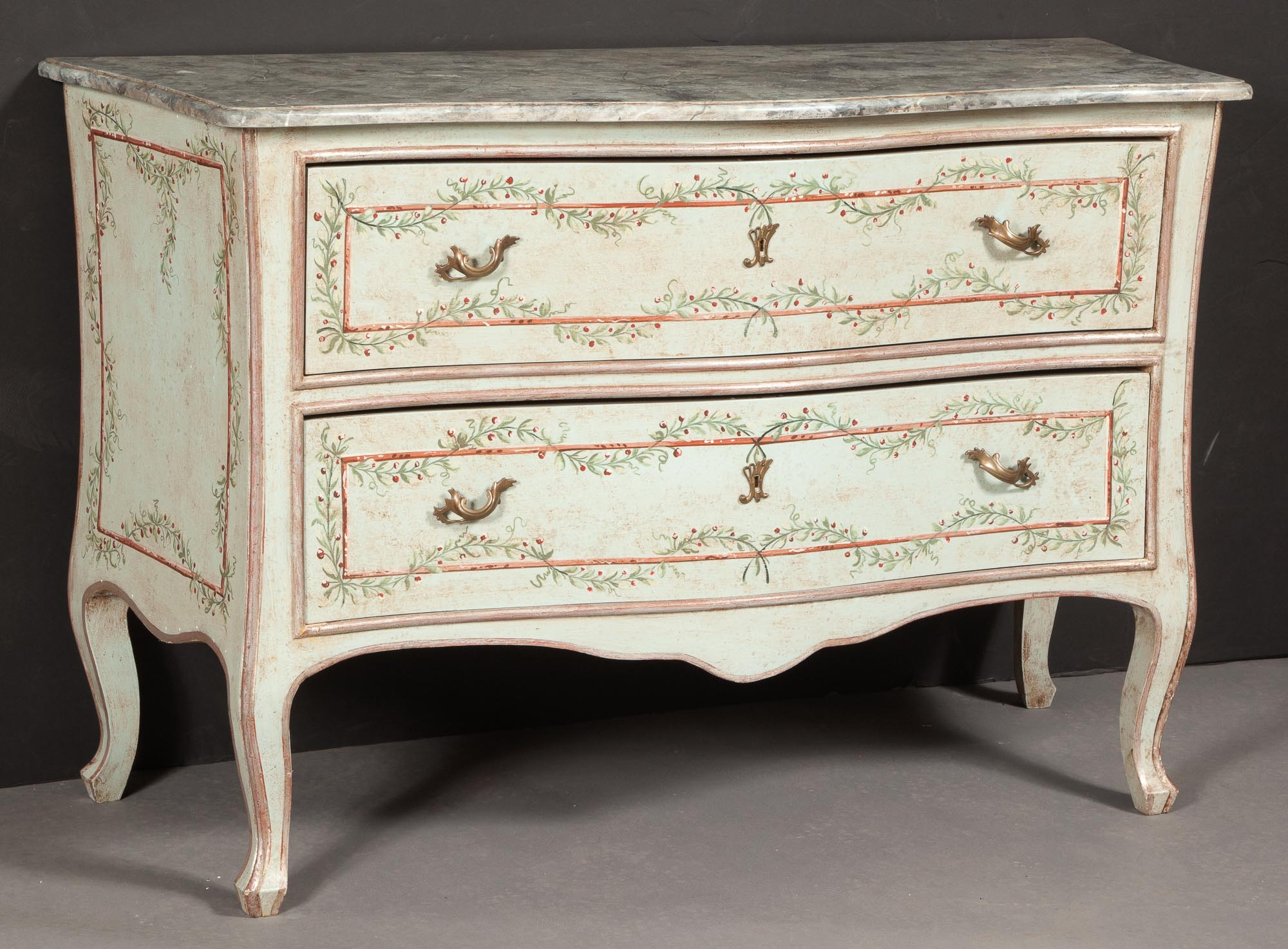 Lot image - Italian Rococo Style Painted Commode