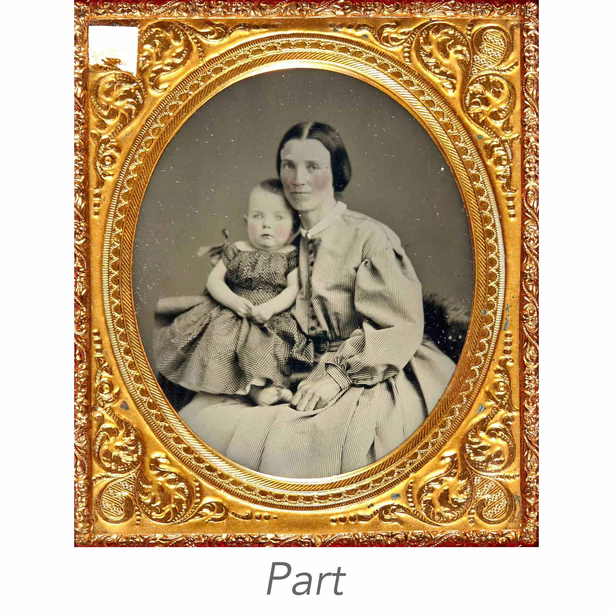 Lot image - [CASED IMAGES-PORTRAITS]  Two sixth-plate portrait ambrotypes, both signed.