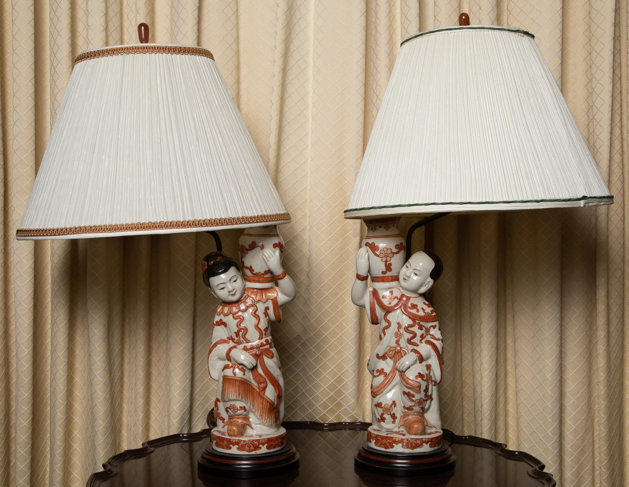 Lot image - Pair of Chinese Porcelain Figures