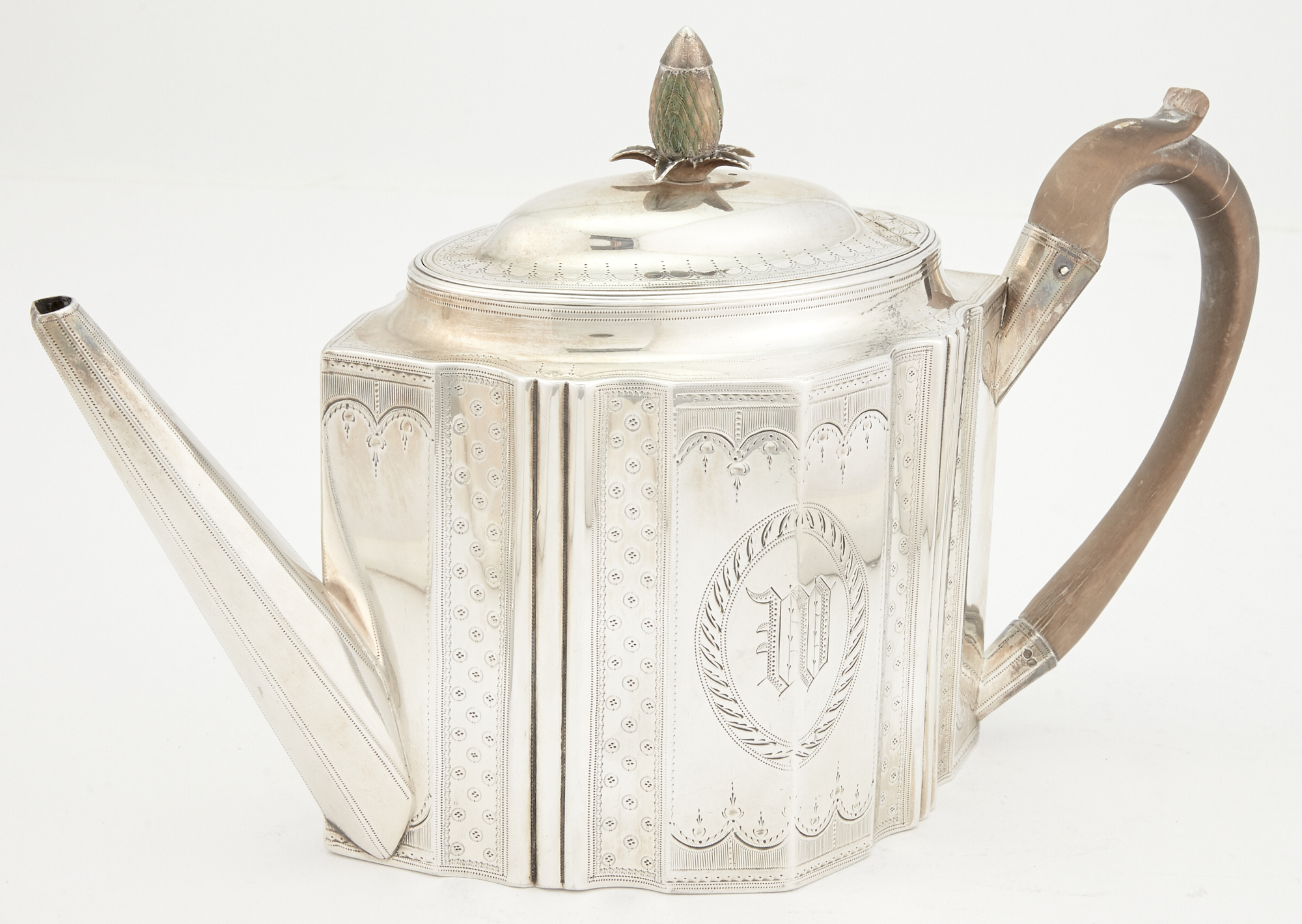 Lot image - George III Sterling Silver Teapot