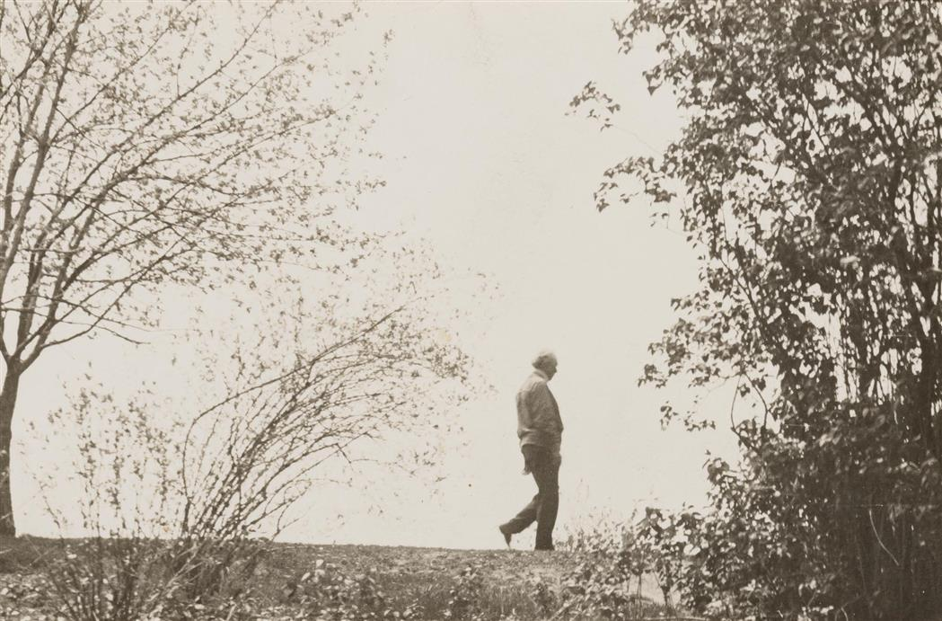 Lot image - [ANONYMOUS]  Untitled [Portrait of Frank Lloyd Wright],