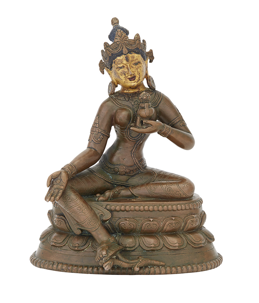 Lot image - Tibetan Bronze Figure of Tara