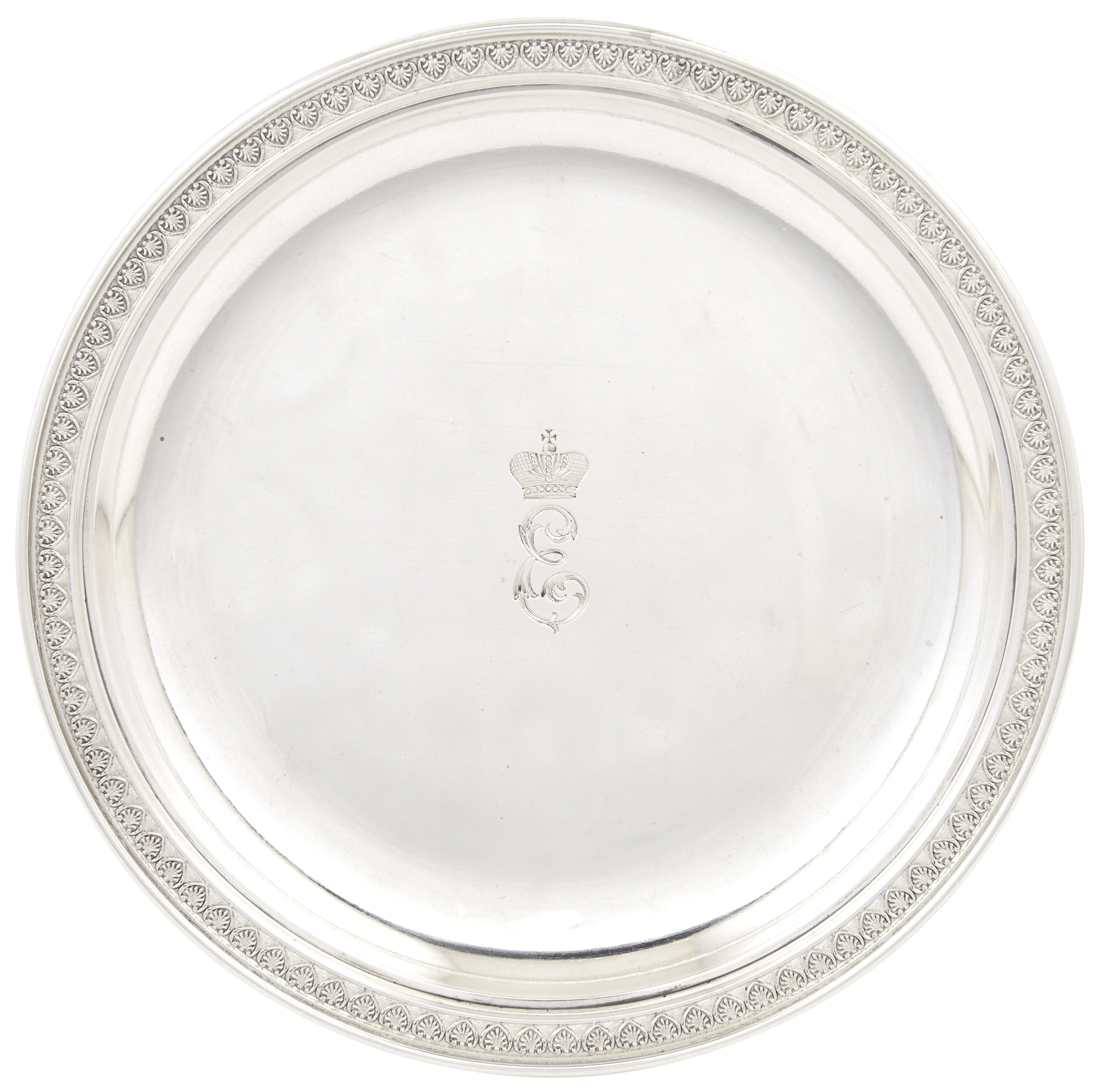 Lot image - Fabergé Silver Tray