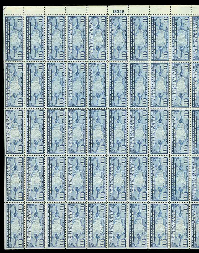 Lot image - United States Airmail Sheets