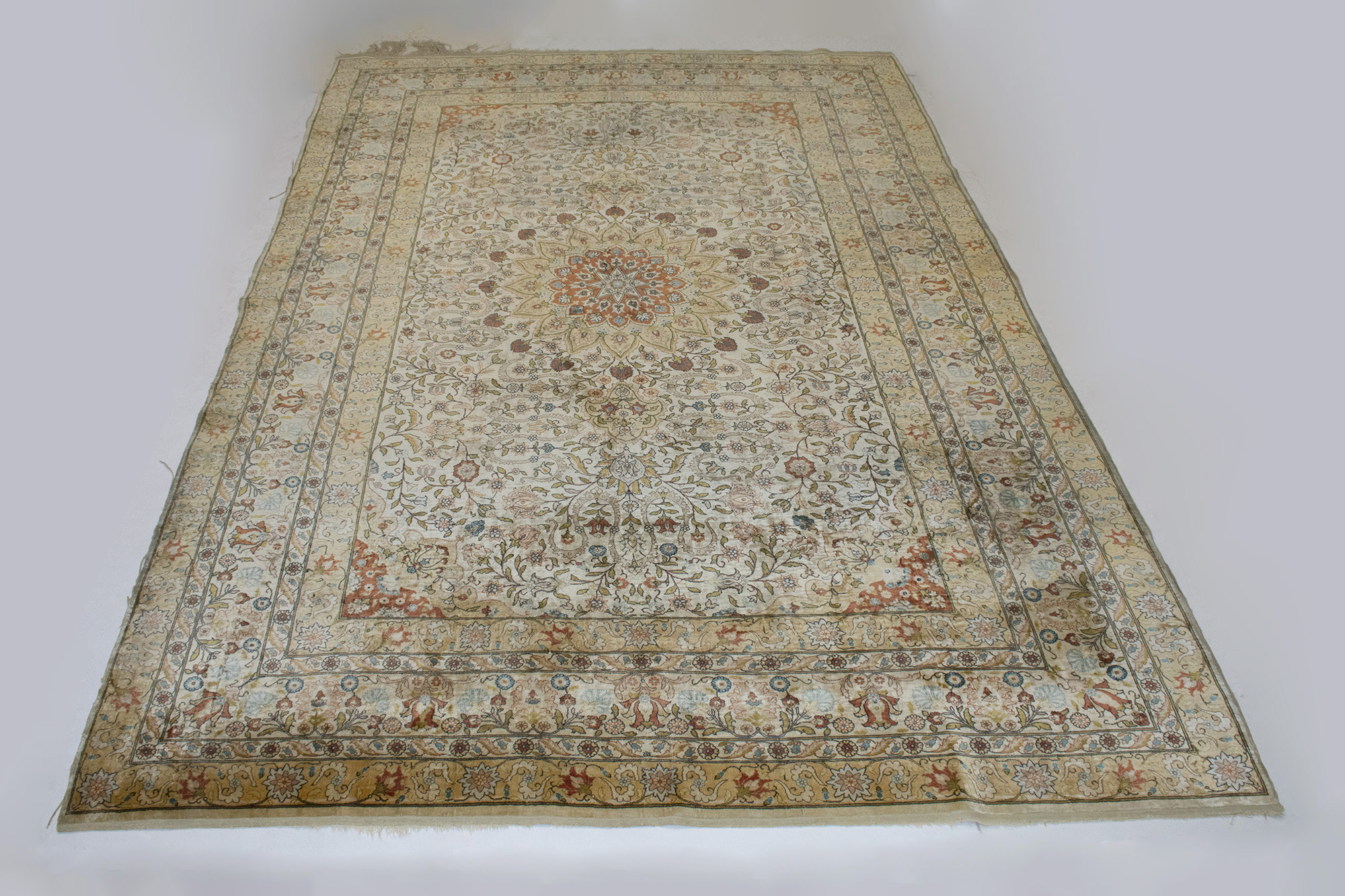 Lot image - Hereke Silk Carpet