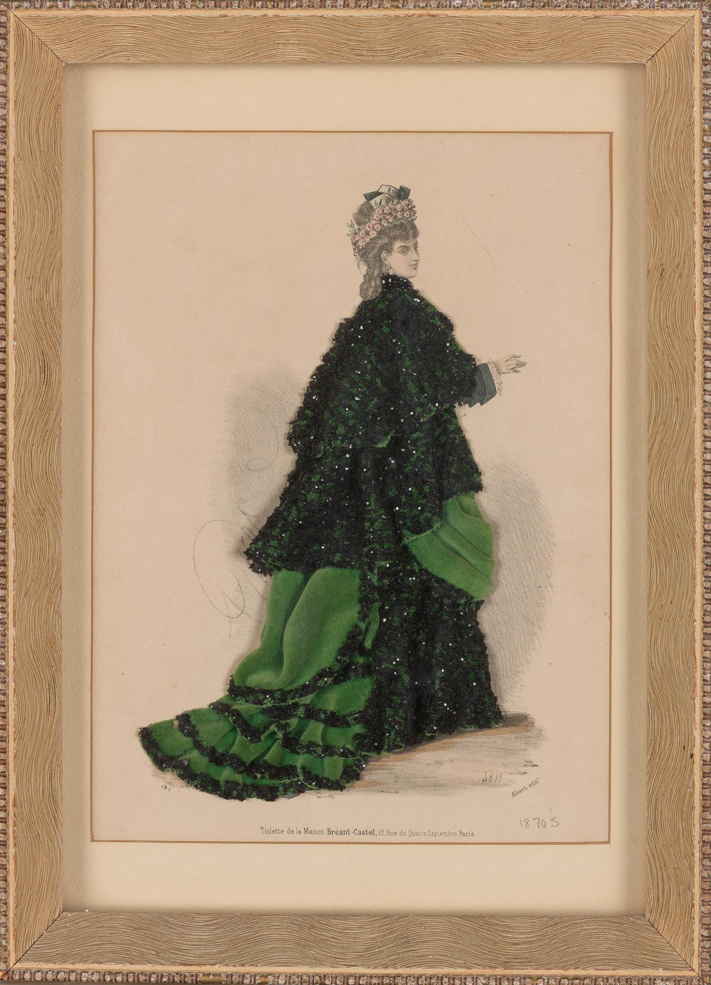 Lot image - [FASHION]  Group of eleven plates from 19th century French fashion periodicals