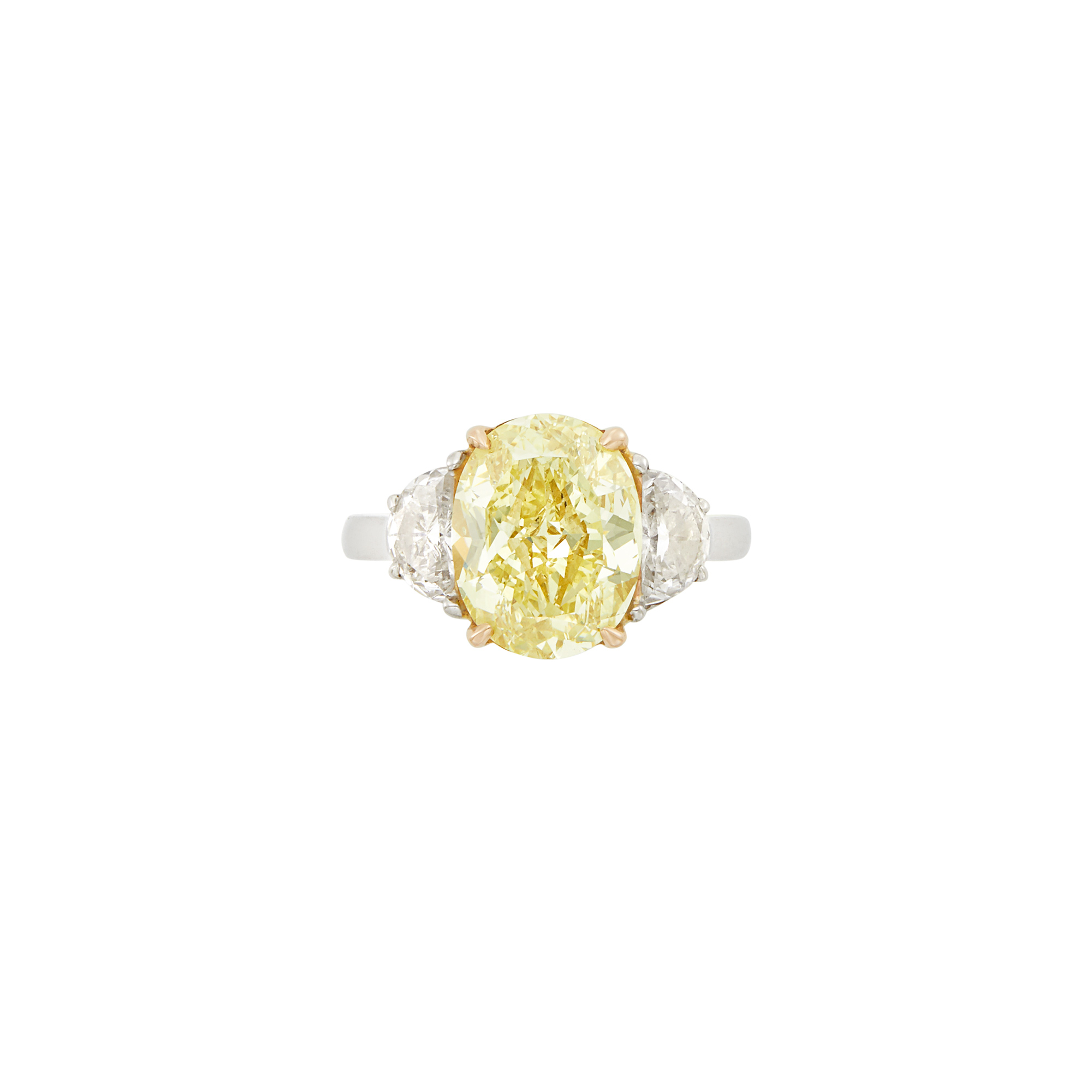 Lot image - Platinum, Gold, Fancy Yellow Diamond and Diamond Ring, Tiffany & Co.