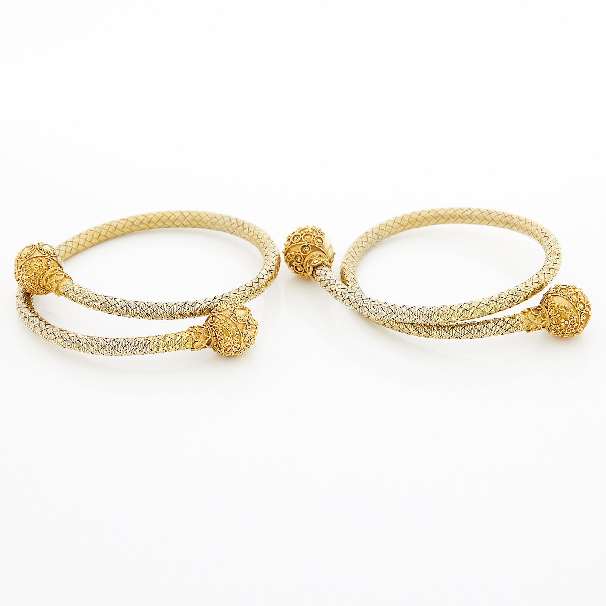 Lot image - Two Antique Gold and Low Karat Gold Bracelets