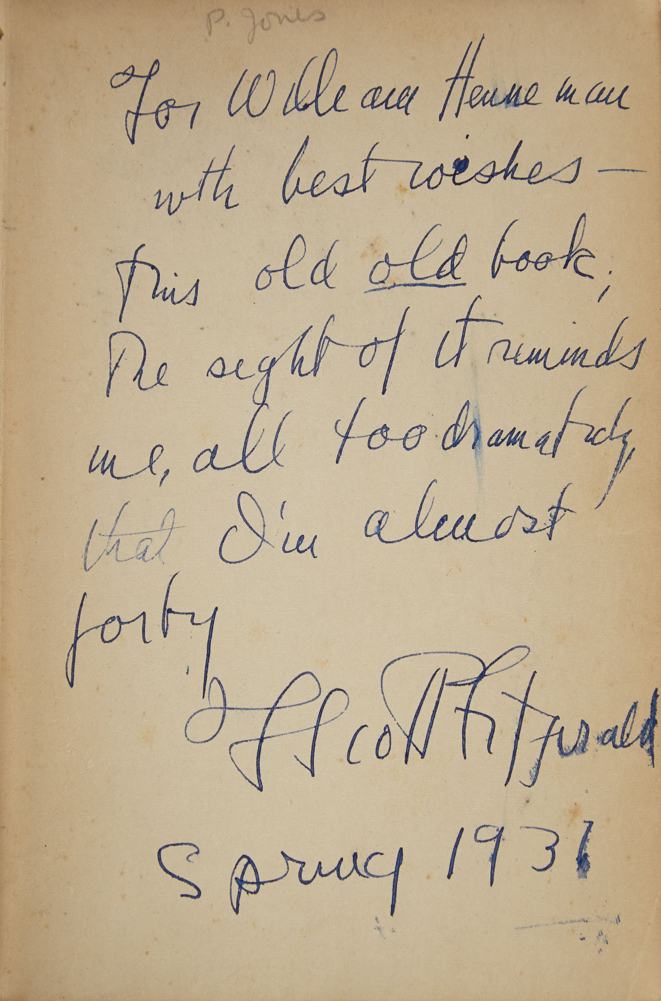 Lot image - FITZGERALD, F. SCOTT  This Side of Paradise.