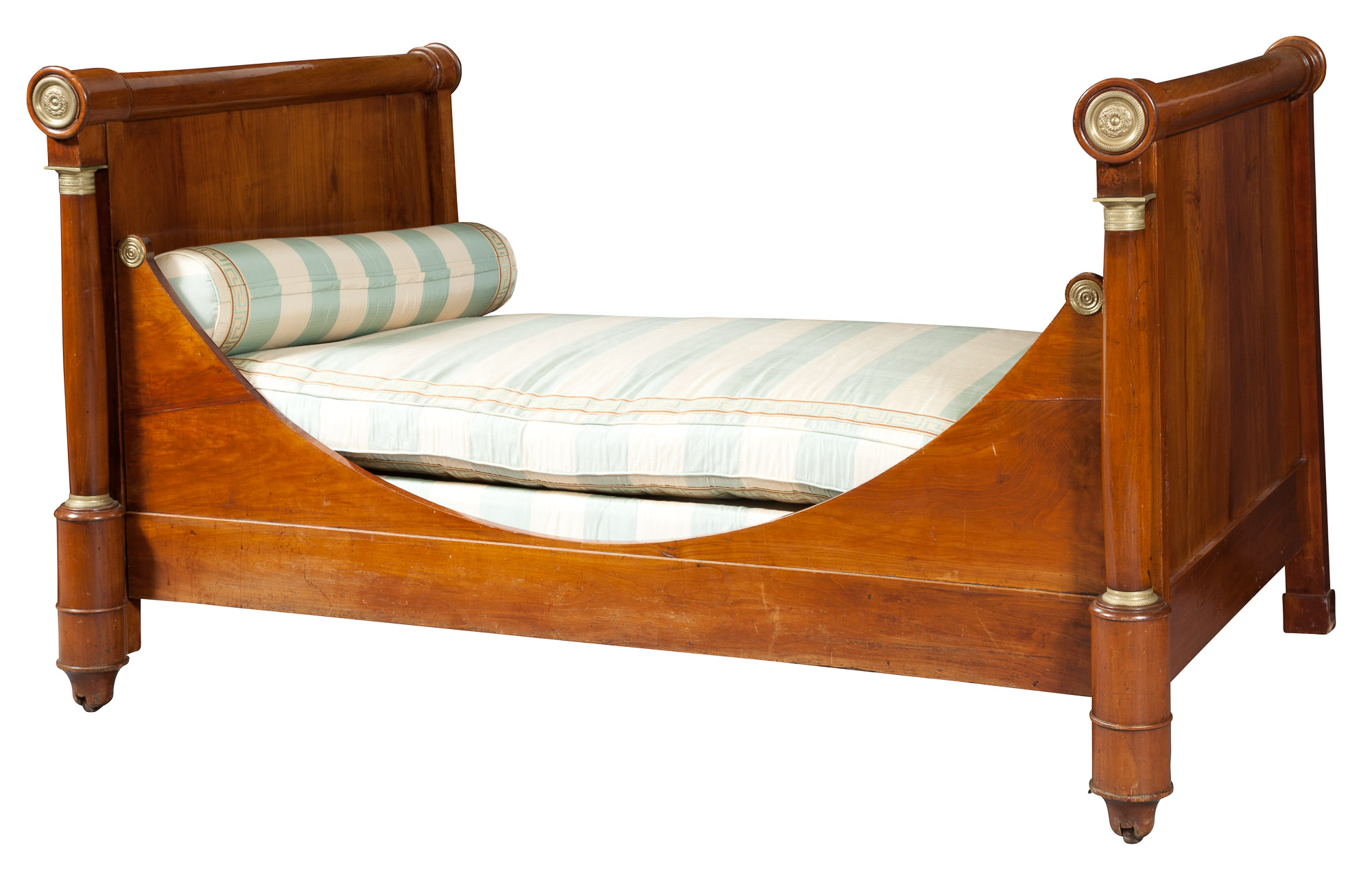 Lot image - Empire Ormolu-Mounted Fruitwood Daybed
