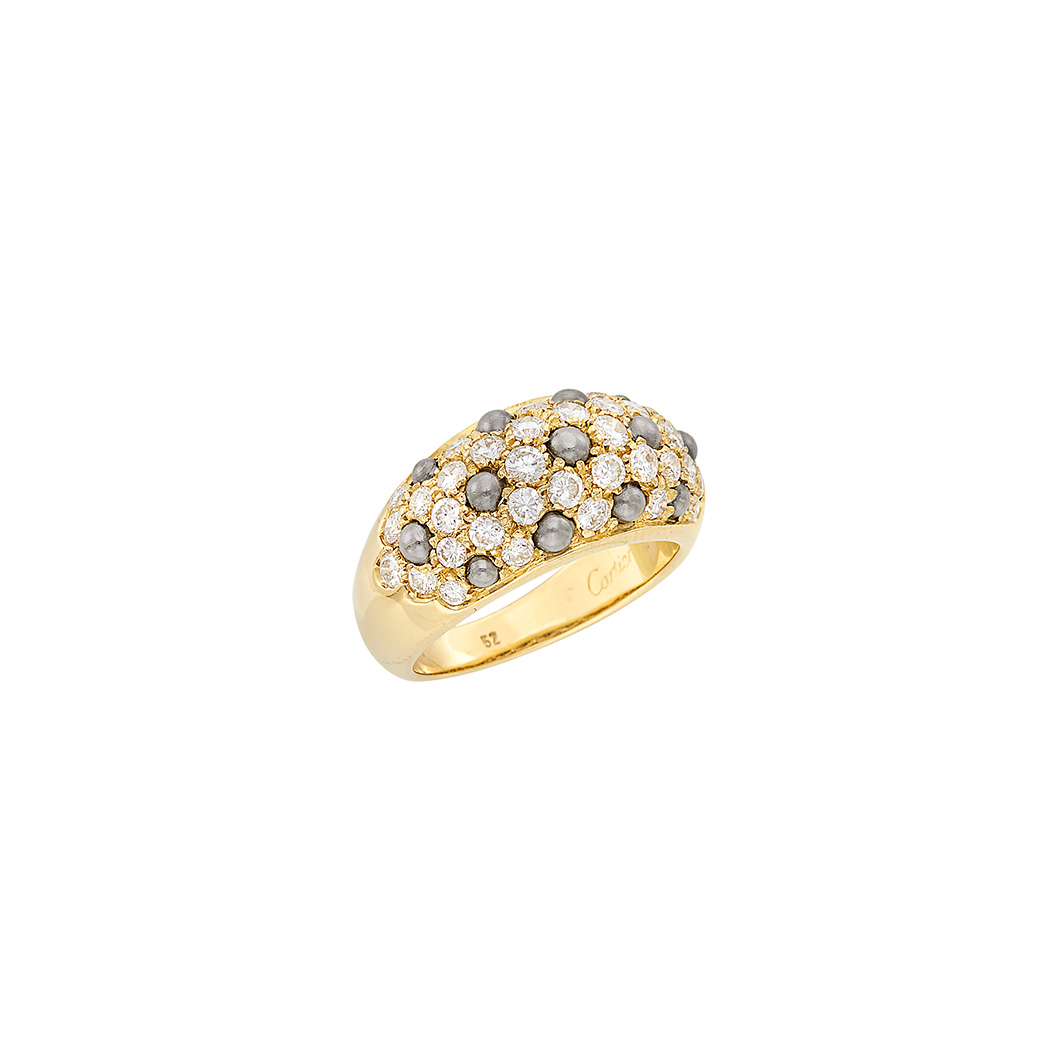 Lot image - Gold, Platinum and Diamond Ring, Cartier