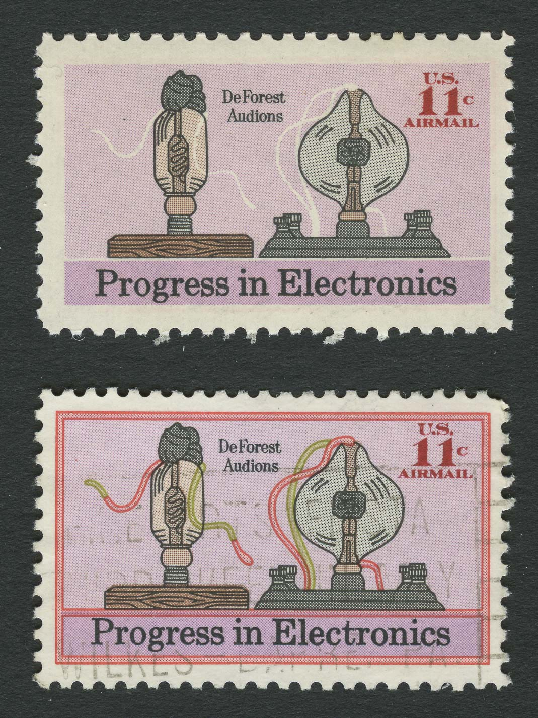 Lot image - United States Air Post 1973 Electronics Color Error Sc. C86a