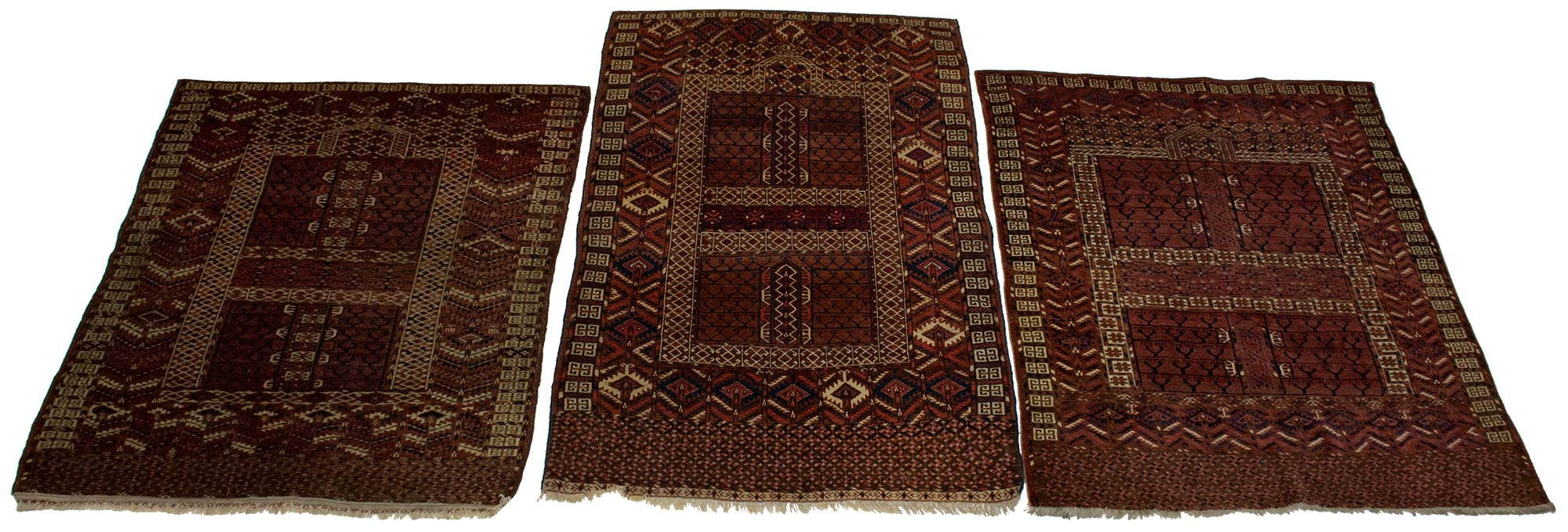 Lot image - Three Tekke Ensi Rugs