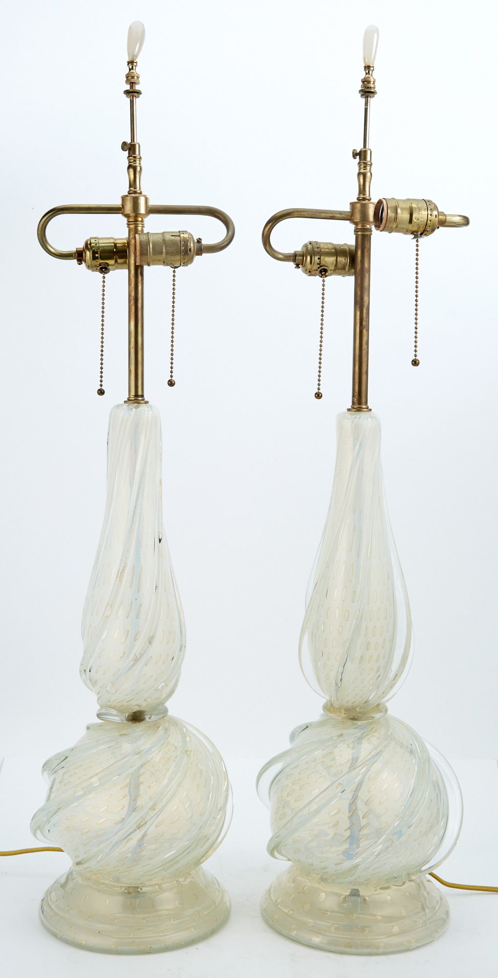 Lot image - Pair of Murano Glass Lamps