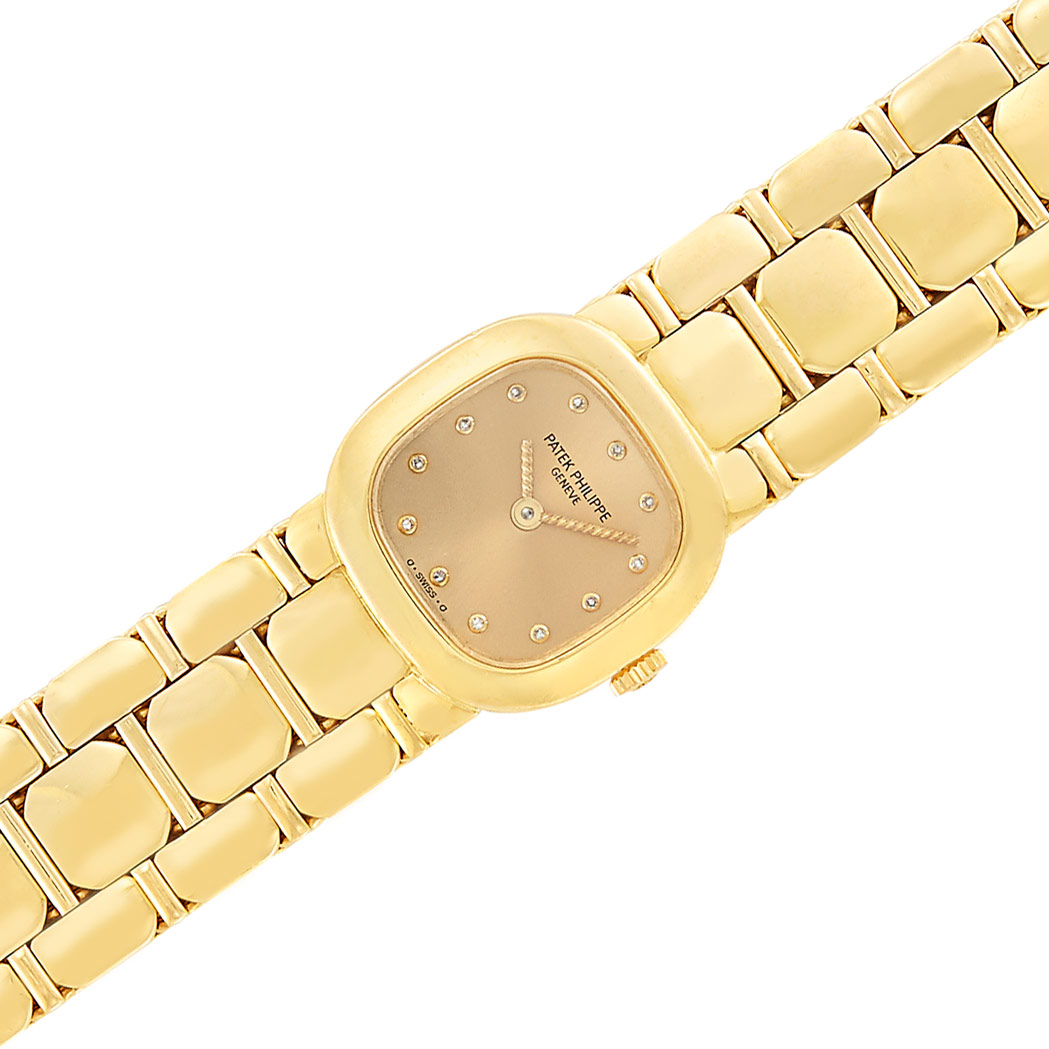 Lot image - Lady's Gold Wristwatch, Patek Philippe, Ref. 4719