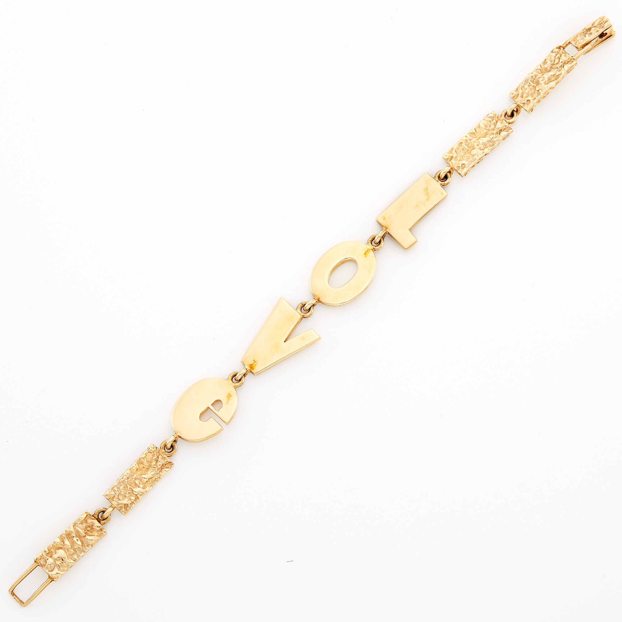 Lot image - Nugget Gold Love Bracelet