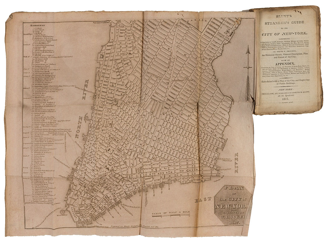 Lot image - [NEW YORK - MAPS, GUIDES & VIEWS]  Group of antiquarian volumes, 1813-1832