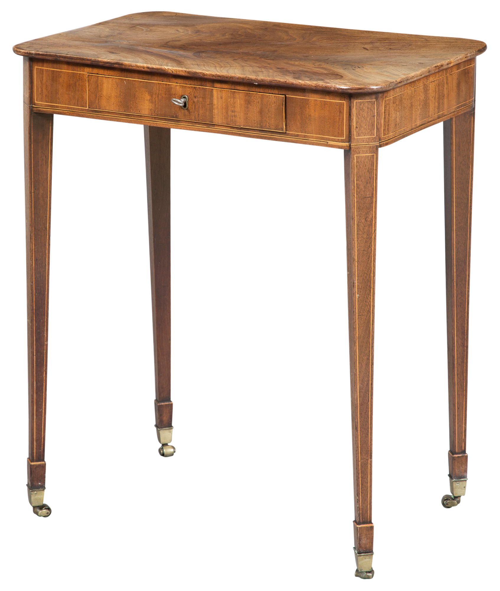 Lot image - George III Mahogany Side Table
