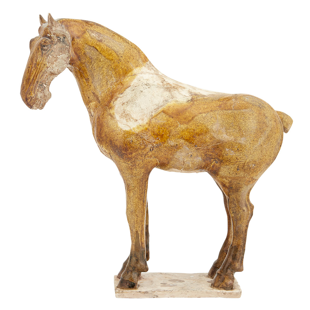 Lot image - Chinese Amber Glazed Earthenware Model of a Horse