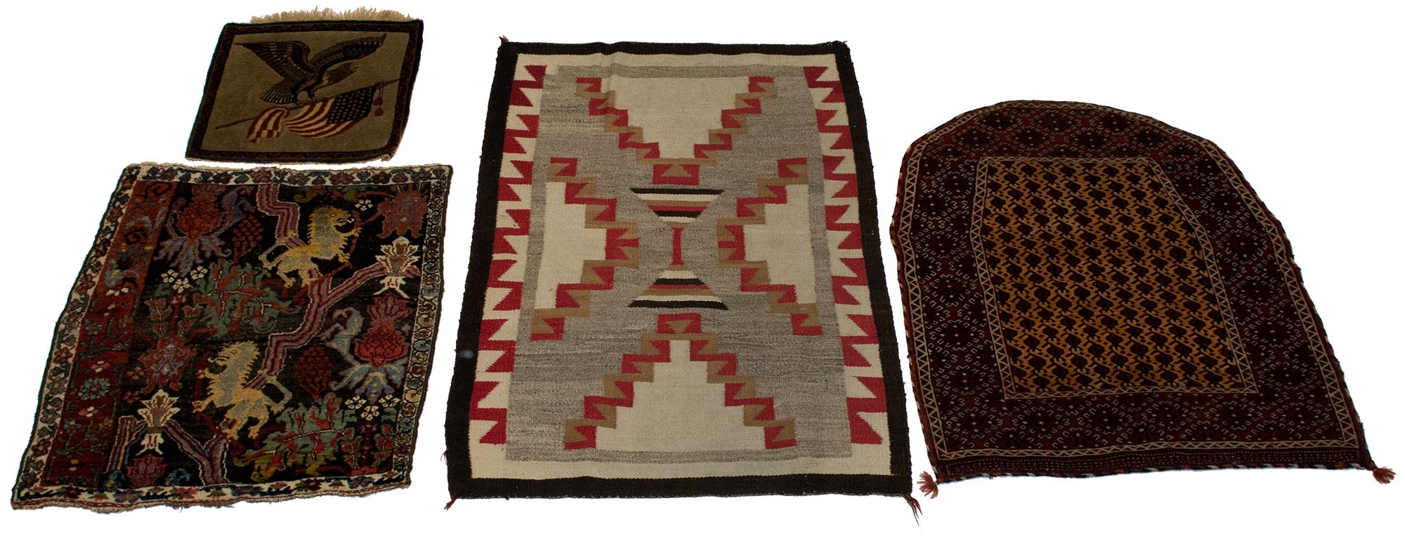 Lot image - Four Assorted Rugs