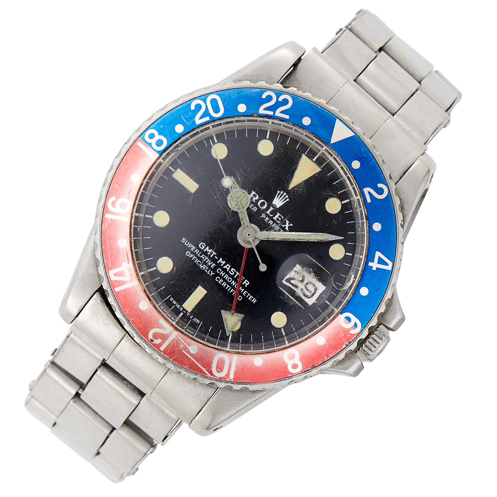 Lot image - Stainless Steel GMT Wristwatch, Rolex