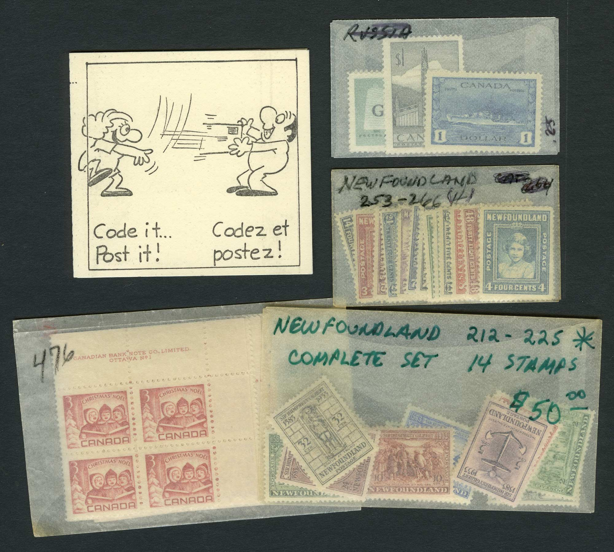 Lot image - Canada and Newfoundland Stamp Group