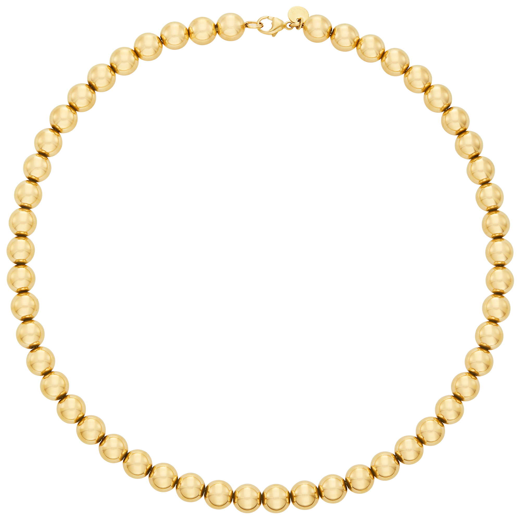 Lot image - Gold Ball Bead Necklace, Tiffany & Co.