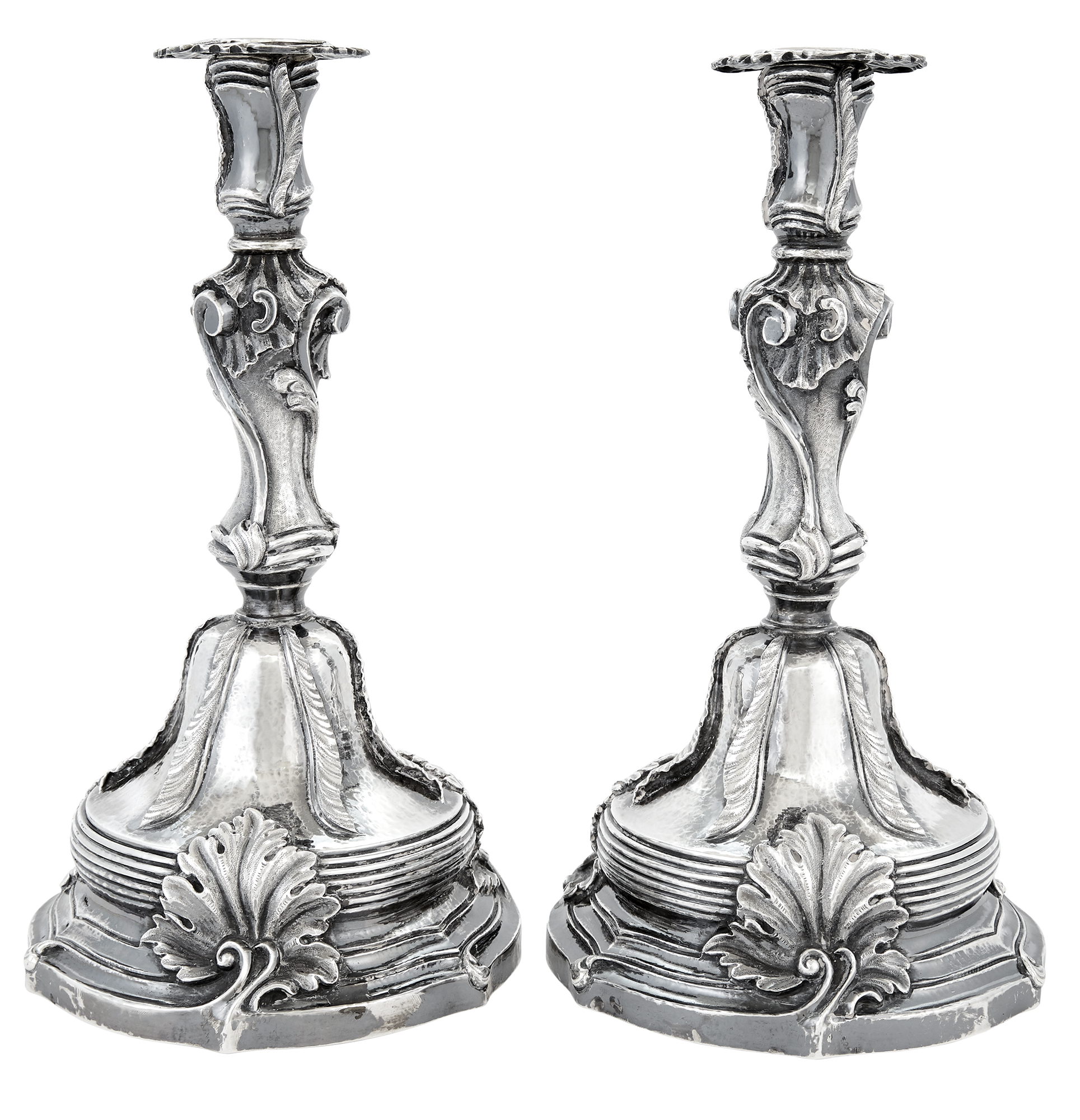 Lot image - Pair of Buccellati Rococo Style Sterling Silver Candlesticks