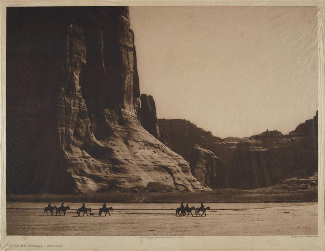 Lot image - CURTIS, EDWARD SHERRIFF (1868-1952)  Canon de Chelly, Navaho, 1904.