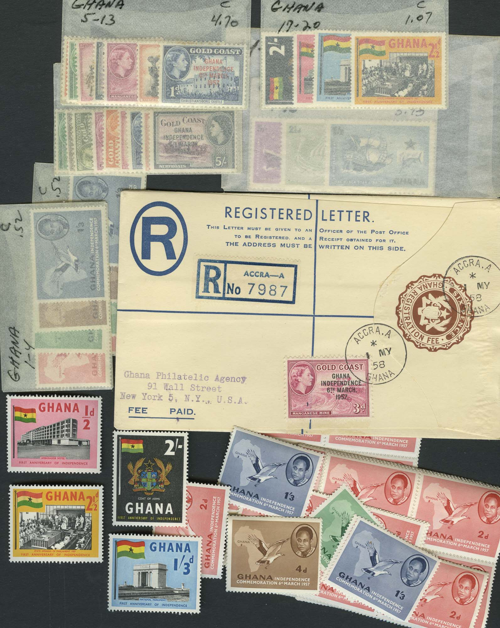 Lot image - Ghana Stamp Accumulation