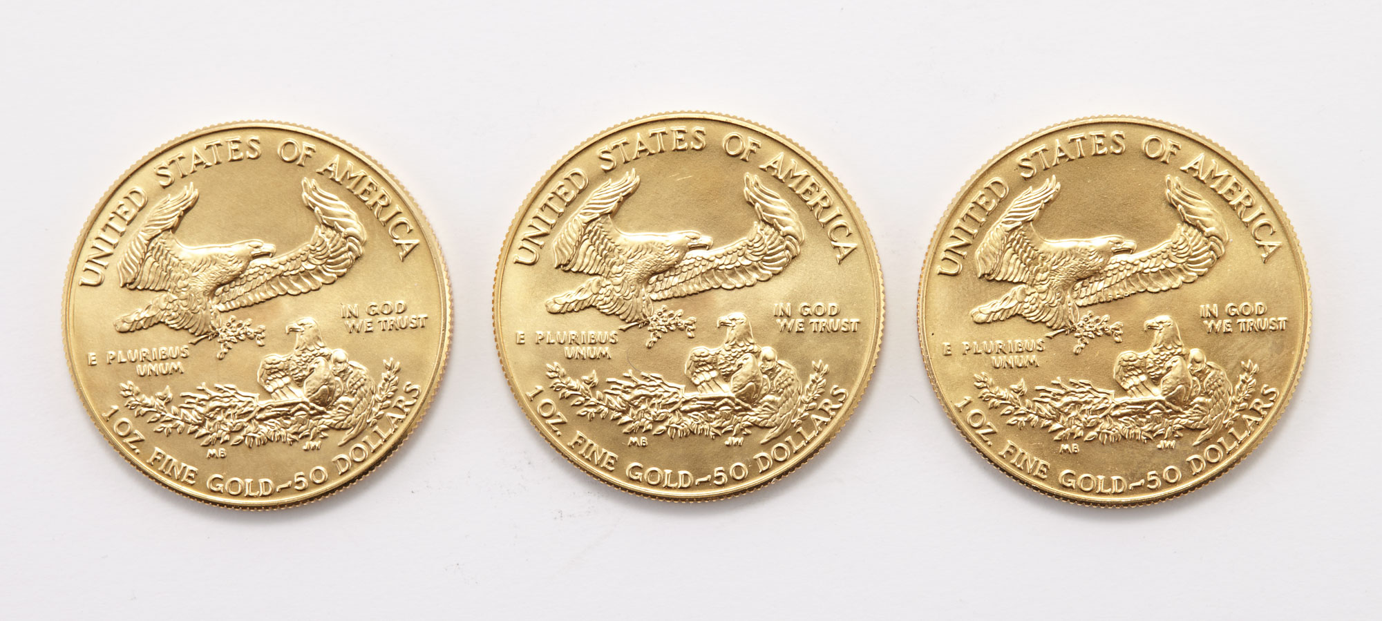 Lot image - United States 1989 $50 Gold Eagles