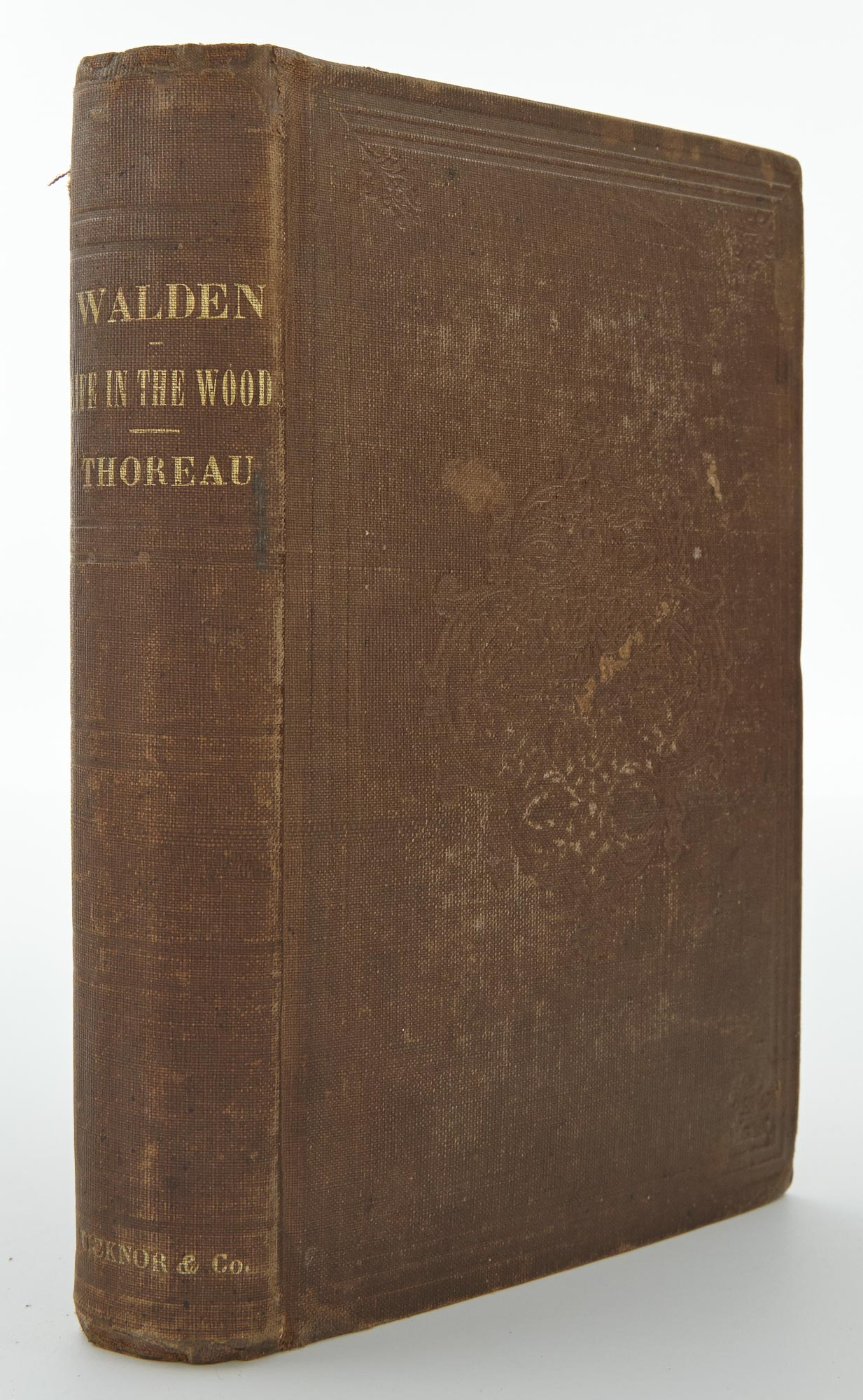 Lot image - THOREAU, HENRY DAVID  Walden; or, Life in the Woods